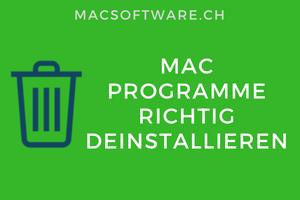 Mac Software richtig deinstallieren
