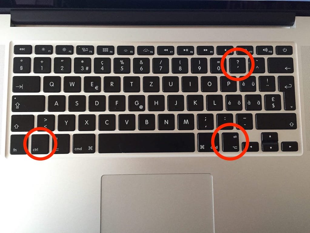 Backslash Mac Bootcamp Windows DE-Tastatur