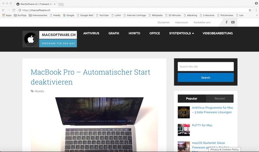 Chromium Browser für Mac