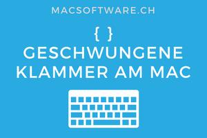 Mac Geschwungene Klammer