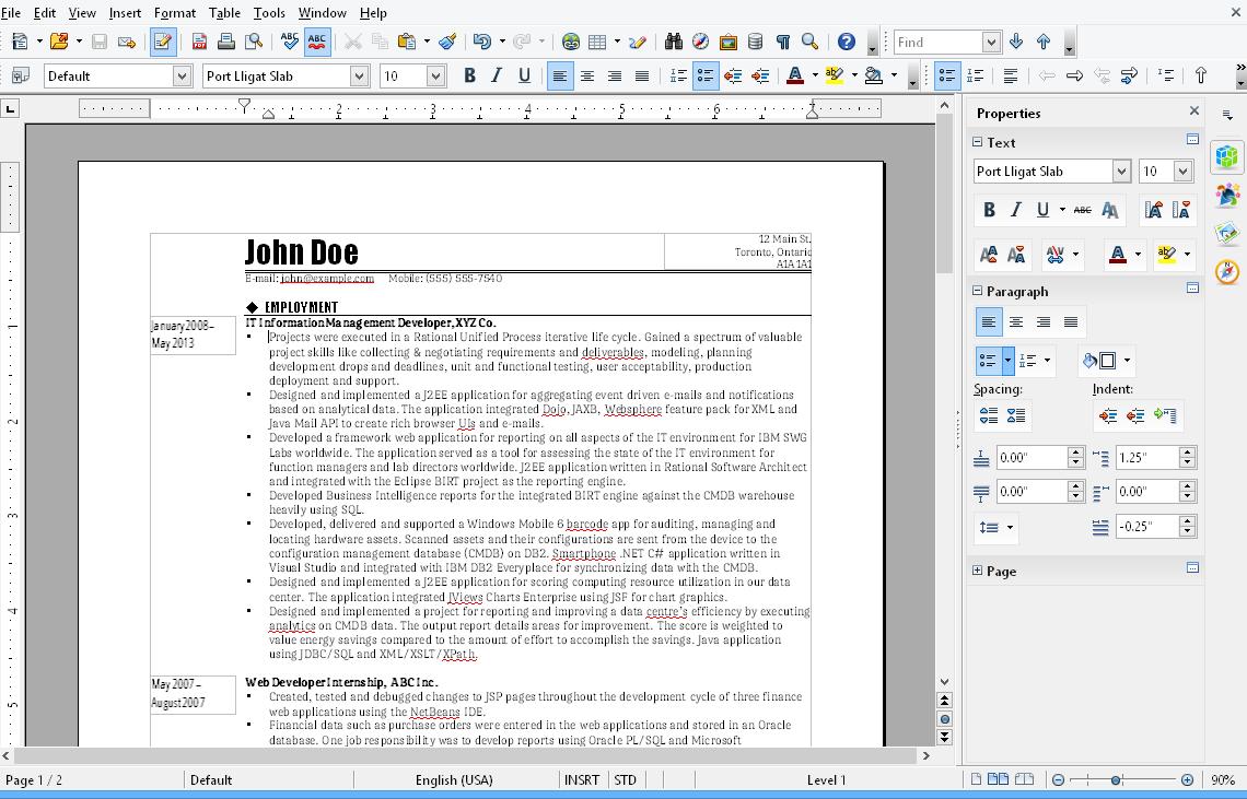Office-Alternative für Mac - OpenOffice