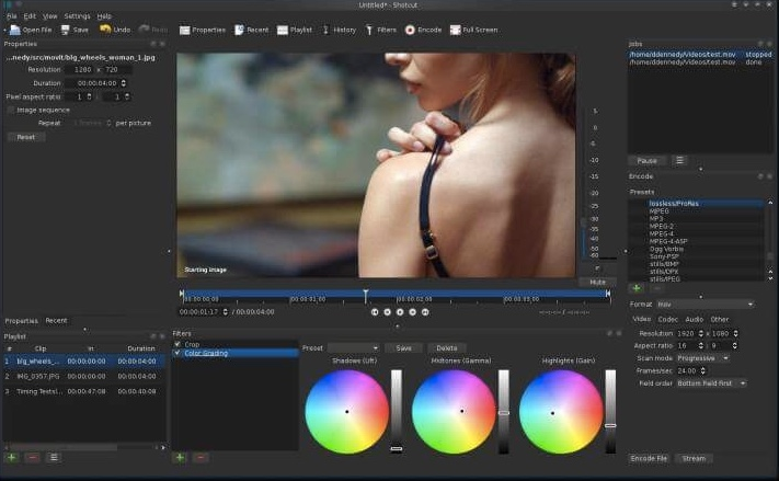 ShotCut gratis Mac Videobearbeitung