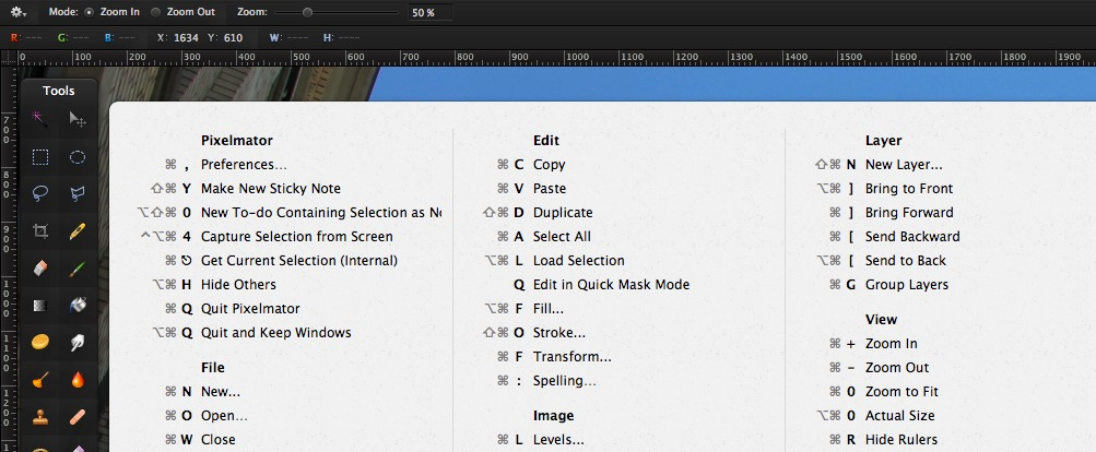 Geschweifte Klammer Mac-Tastatur