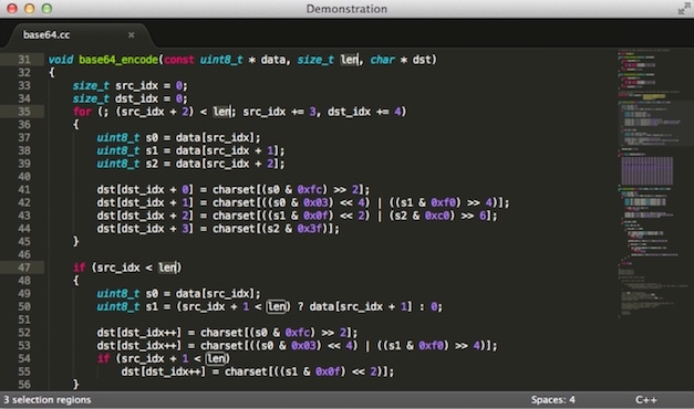 TextWrangler Alternative für Mac mit Sublime Text