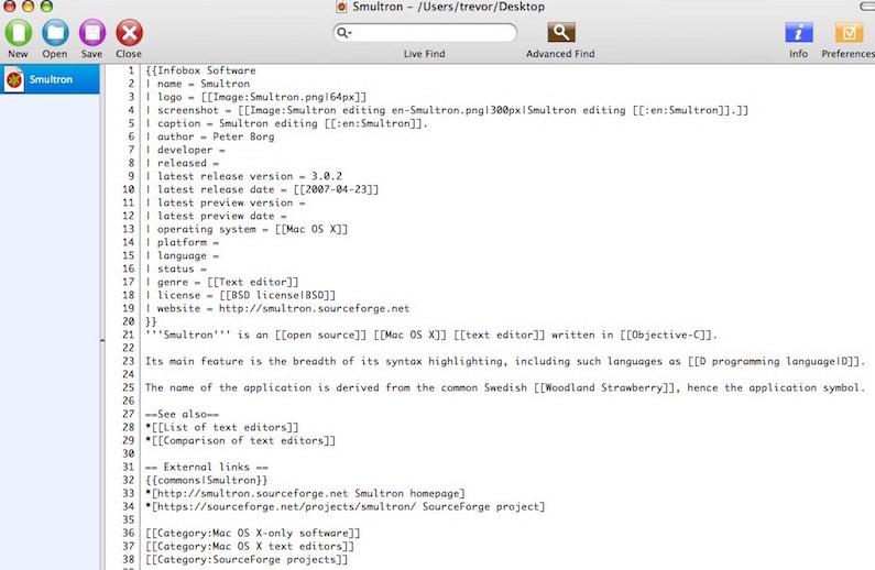 Smultron TextWrangler Alternative für Mac
