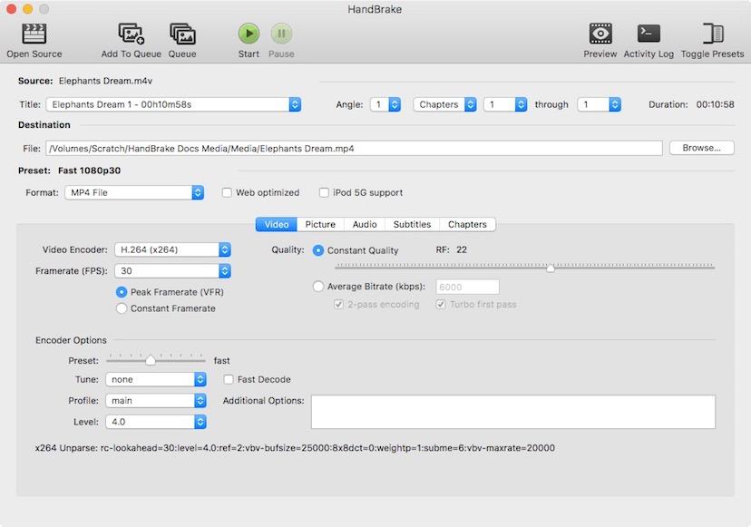 Handbrake Videokonverter Mac Software