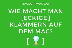 Eckige Klammern Mac