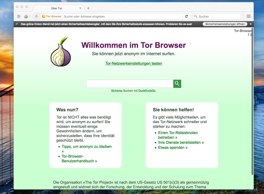 mac open tor browser gidra