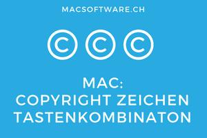 Copyright Zeichen Mac Tastenkombination