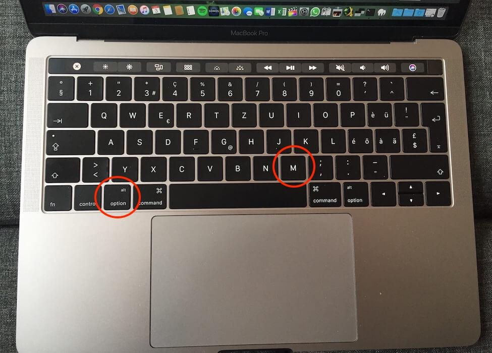 Mü Zeichen µ Mac Tastatur
