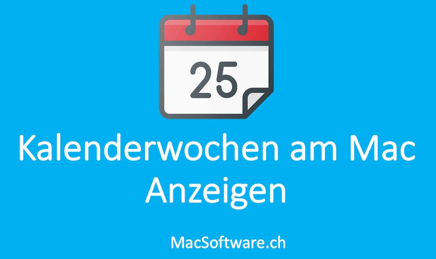 Kalenderwochen am Mac anzeigen