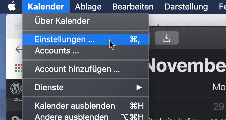 Mac Kalenderwochen anzeigen