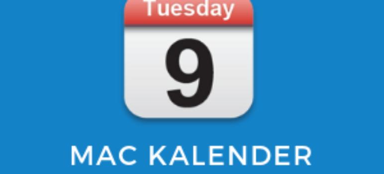 Kalenderwoche am Mac anzeigen